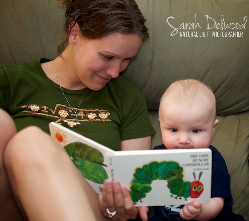 We're going to have a little reader on our hands soon!