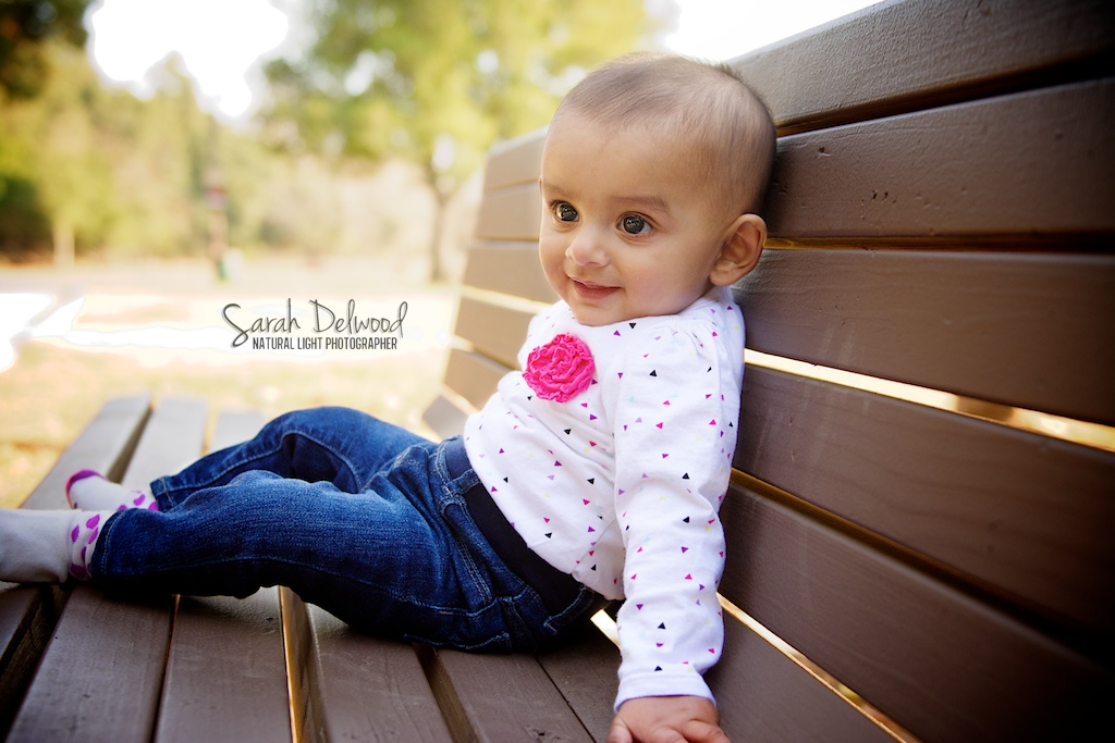 6 month baby girl and family natural light outdoor portraits in San Jose with Sarah Delwood Photography