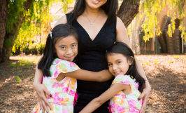 Easter portraits with two girls at Almaden Lake Park in San Jose with Sarah Delwood Photography