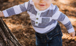 9 month natural light outdoor baby portraits in San Jose with Sarah Delwood Photography