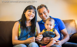6 month baby boy and family portraits indoors in san jose with Sarah Delwood Photography natural light