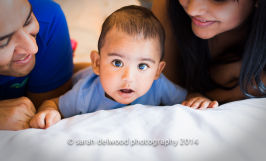 natural light 6 month baby boy and family portraits indoors in san jose with Sarah Delwood Photography