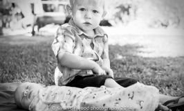 black and white natural light baby boy newborn 2 year old brothers outdoor family portraits San Jose Sarah Delwood Photography