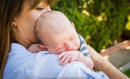 natural light baby boy newborn outdoor family portraits San Jose Sarah Delwood Photography