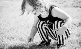2 year old girl natural light photography portrait shady oaks park san jose outdoors black and white