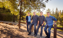 natural light adult boys men family outdoor portraits cupertino Sarah Delwood Photography