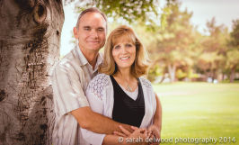 Adult couple in 50s natural light portraits head shots park by Sarah Delwood Photography in San Jose