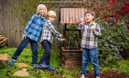 family boys cousins natural light christmas portraits san francisco Sarah Delwood Photography