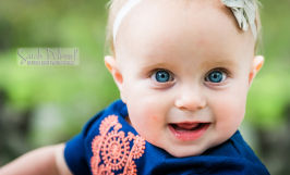 9 month old baby girl toddler natural light outside portrait los gatos Sarah Delwood Photography