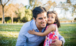 2 year old baby girl and family natural light outside portrait san jose Sarah Delwood Photography